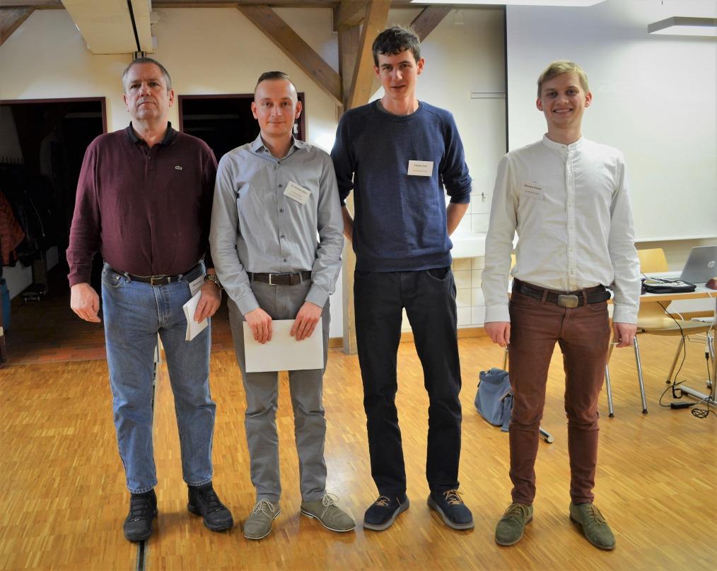 v.l.n.r.: IA Michael Hein (Hauptschiedsrichter), Michael Jähn (Turnierleiter und Schiedsrichter), Florian Zarri (Schiedsrichter), Nikolaus Patzelt (Schiedsrichter)